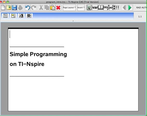TI-Nspire Programming Sampler